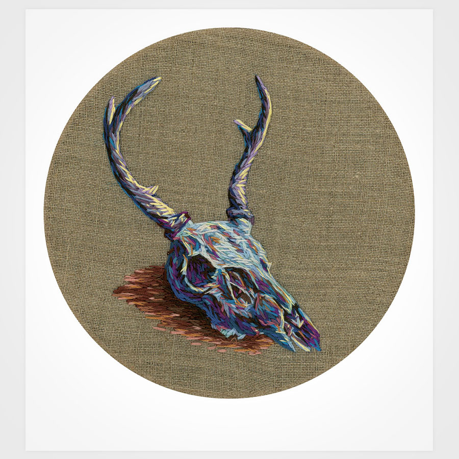 Little Buck Scull Embroidery